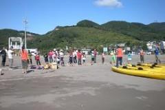 カヌー体験 in 豊浦海浜公園