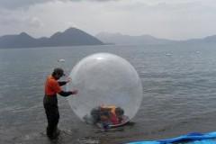 ウォータボール体験 in 豊浦海浜公園