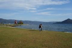 秋の洞爺湖畔